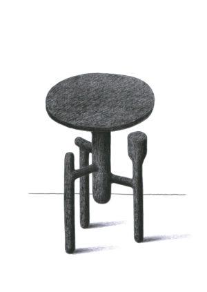Guillaume Delvigne - Oeuvre - Dessin - Design - Designer - Guéridon