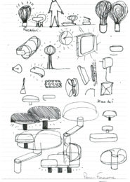 Pierre Favresse - Drawing - Designer - Design - Work - Preparatory sketch n°10
