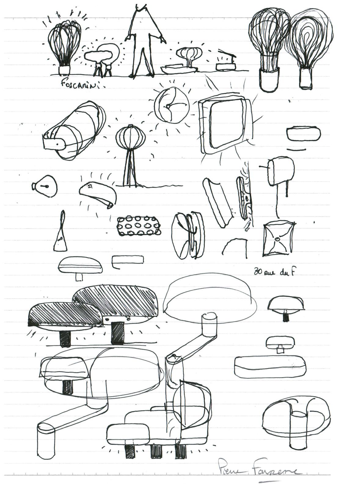 Pierre Favresse - Drawing - Designer - Design - Work - Preparatory sketch n°10