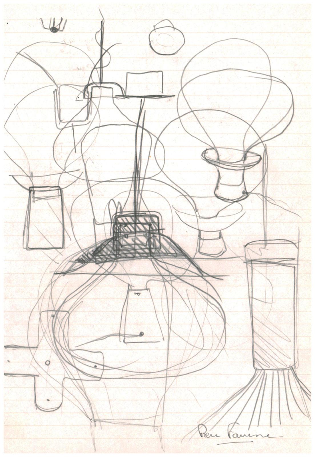 Pierre Favresse - Drawing - Work - Designer - Design - Preparatory sketch n°6