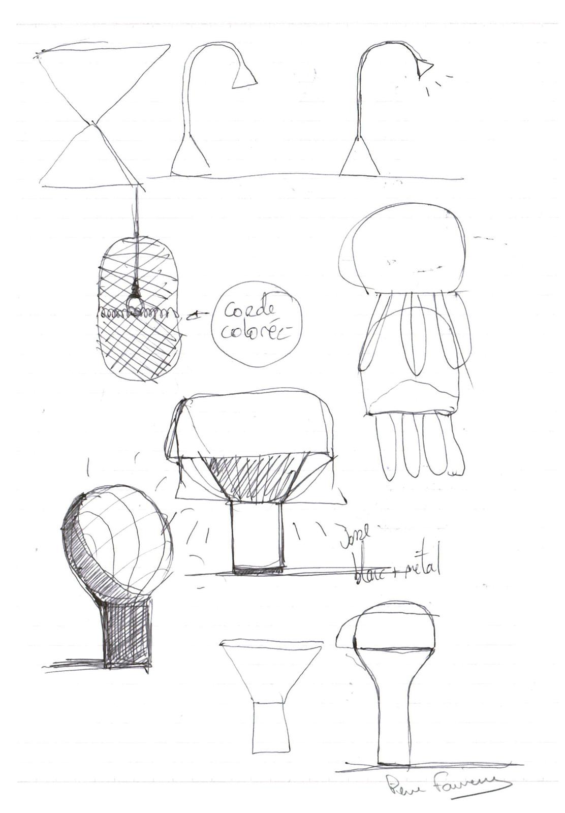 Pierre Favresse - Drawing - Work - Designer - Design - Preparatory sketch n°7