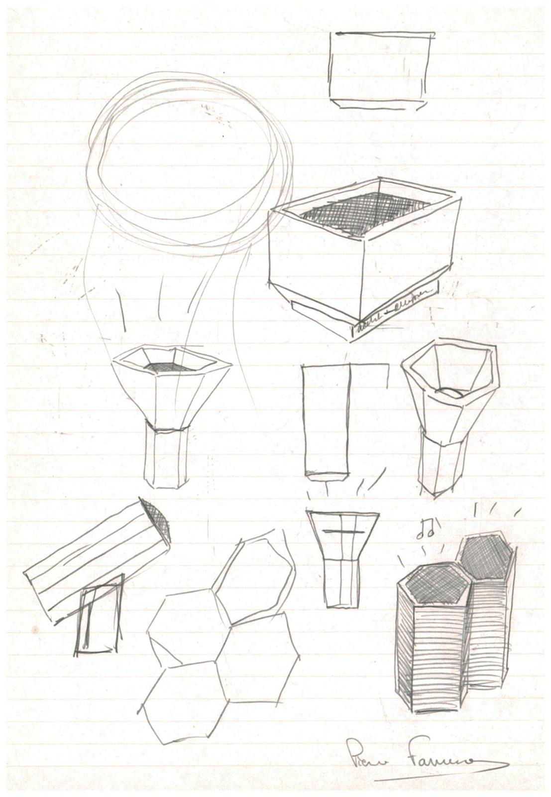 Pierre Favresse - Drawing - Work - Designer - Design - Preparatory sketch n°8