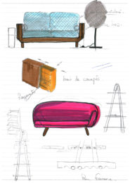 Pierre Favresse - Drawing - Work - Designer - Design - Preparatory sketch n°9