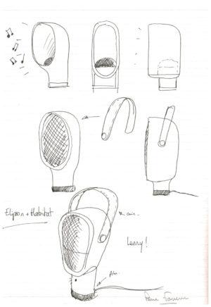 Pierre Favresse - Oeuvre - Dessin - Designer - Design - Croquis préparatoire n°2