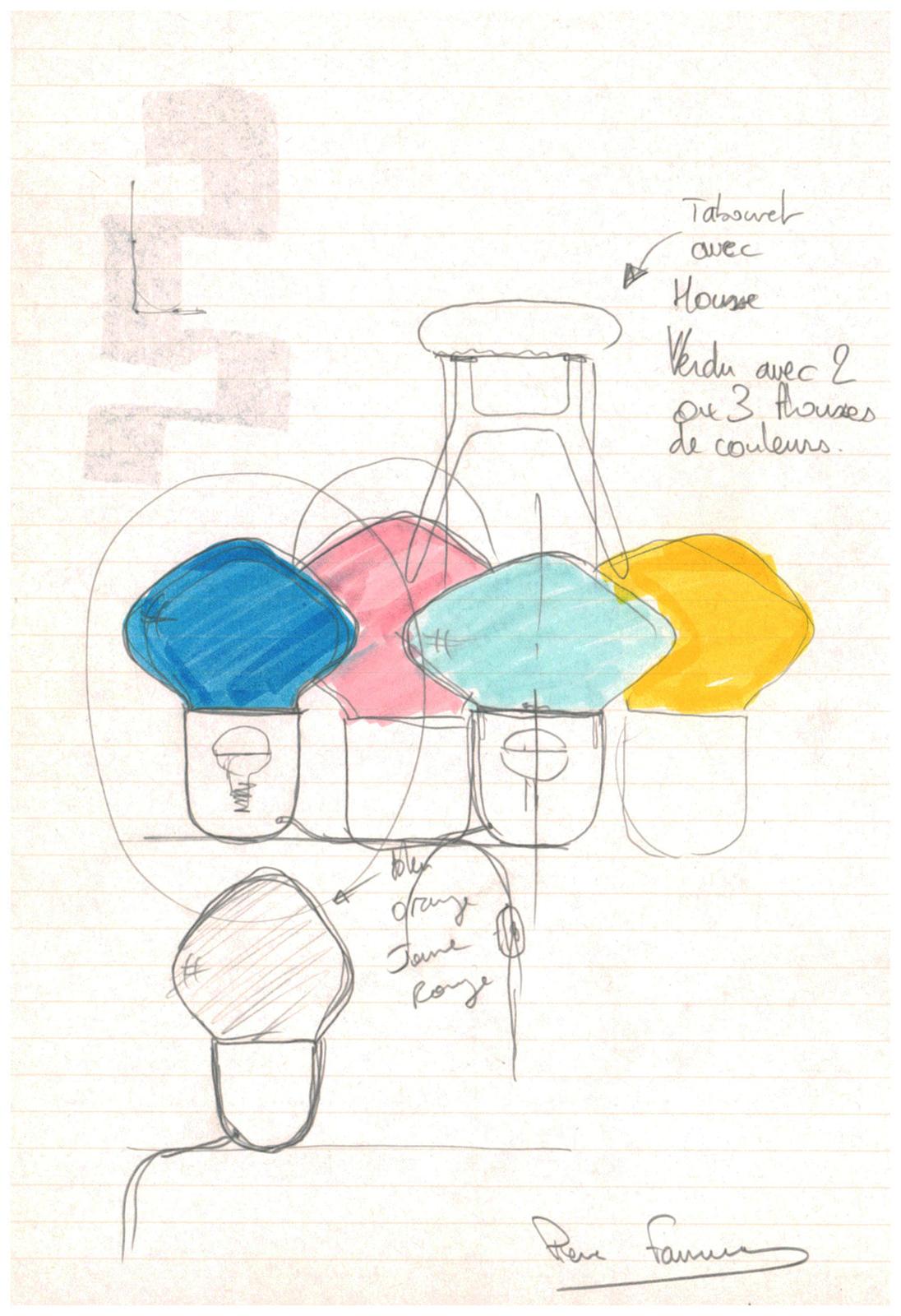 Pierre Favresse - Work - Drawing - Designer - Design - Preparatory sketch n°3