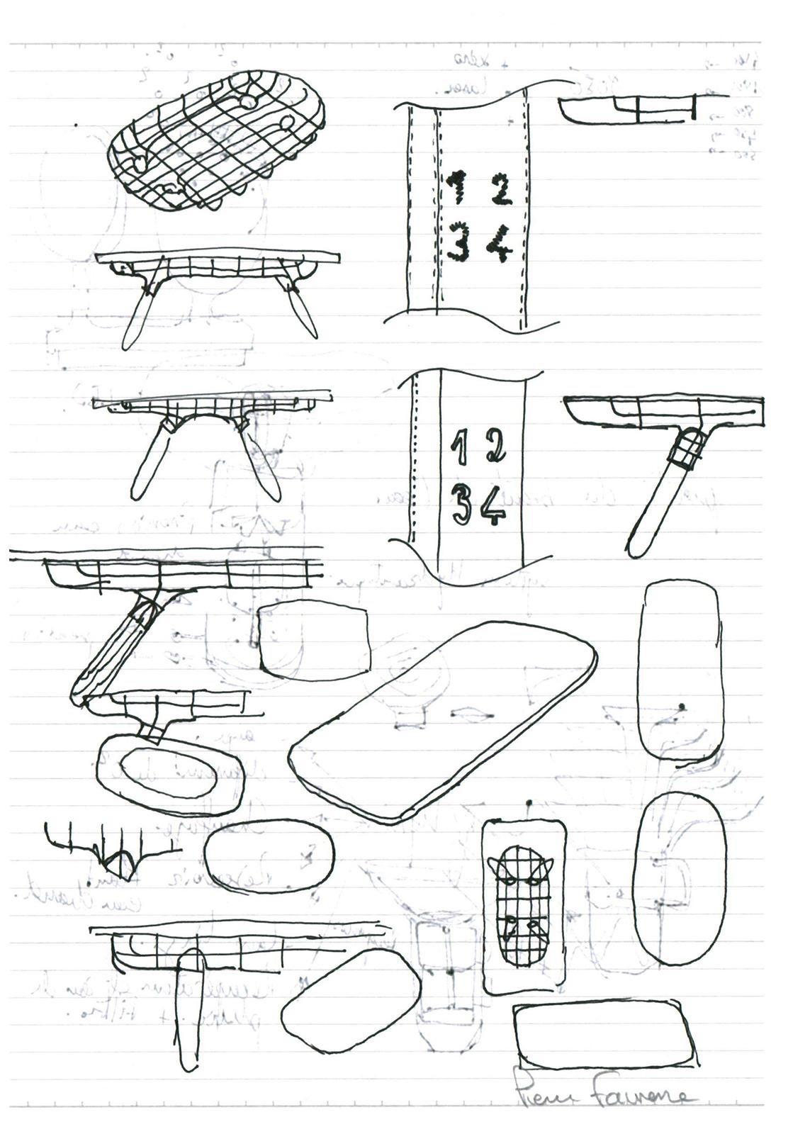 Pierre Favresse - Drawing - Work - Designer - Design - Preparatory sketch