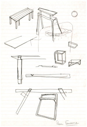 Pierre Favresse - Dessin - Oeuvre - Designer - Design - Croquis préparatoire n°5