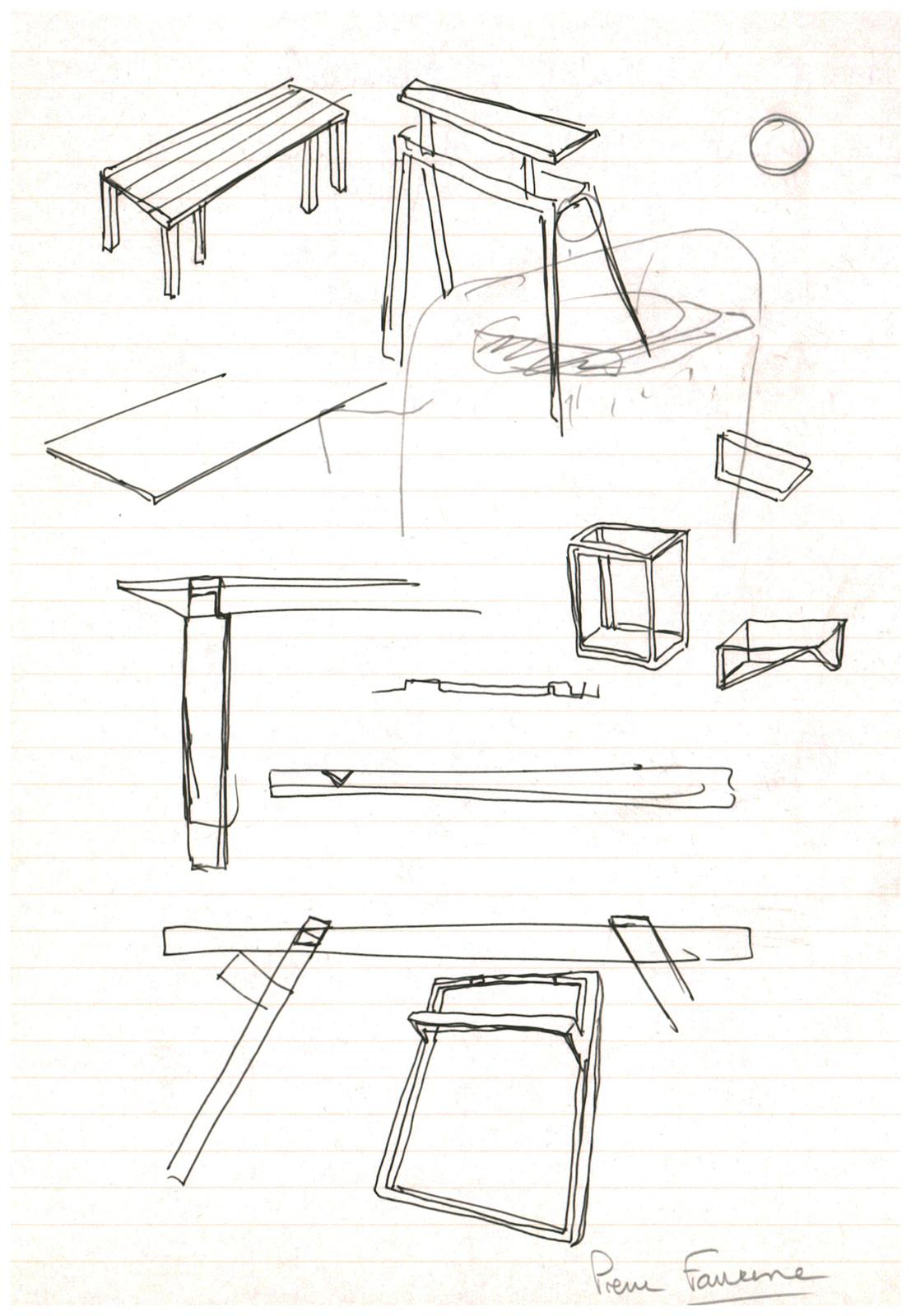 Pierre Favresse - Drawing - Work - Designer - Design - Preparatory sketch n°5