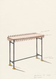 david/nicolas - Dessin - Oeuvre - Designers - Around the leaf, console