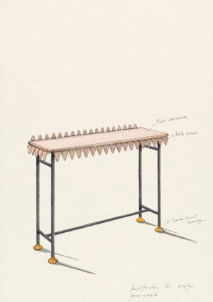 david/nicolas - Dessin - Oeuvre - Designers - Around the leaf, console