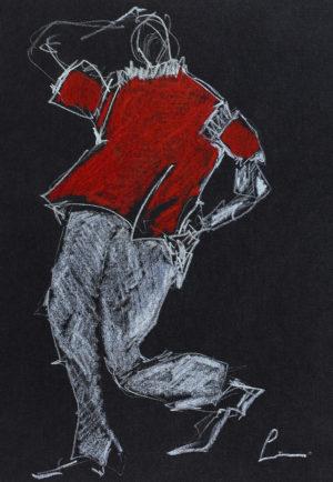Gustavo Lins - DESSIN L'homme au pas